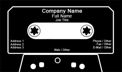 Cassette Tape Business Card Template